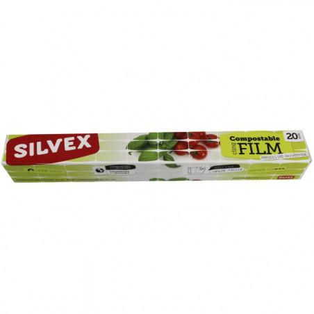 SILVER FILM PLASTIQUE COMPOSTABLE 20M