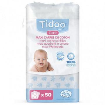 TIDOO MAXI CARRES COTON 50PC