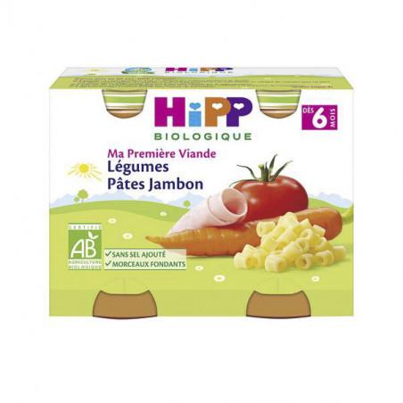 HIPP PATES AU JAMBON LEGUMES BIO 2X190 GR