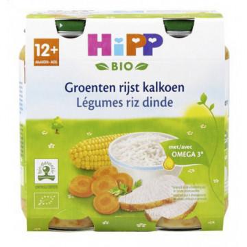 HIPP LEGUMES RIZ DINDE 12 M...