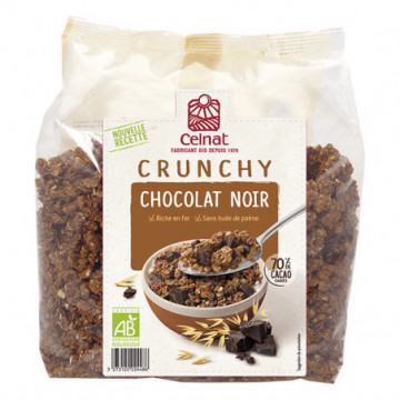 CELNAT CRUNCHY CHOC NOIR 500GR