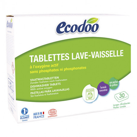 ECODOO TABLETTES LAVE VAISSELLE 30PC