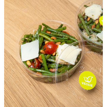 Salade de haricots verts,...