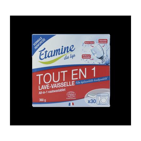 ETAMINE TABLETTES LAVE VAISSELLE TOUT EN 1 30UNITES